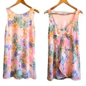 Everly women's mini dress floral pastel print S